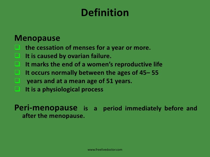 definition de ménopause